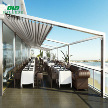 Outdoor waterproof sunshading aluminum retractable awning