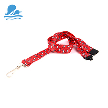 Fuzhou Qeely 100% polyester make own designs specialized conference lanyard ends
