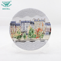Tourist gift wholesale ceramic positive cooking plate for dinner
