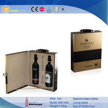 High Quality EVA Wooden Leather Wholesale Wine Gift Box /Case
