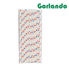 Innovative Star Pattern red/blue Party Paper Drinking Straws