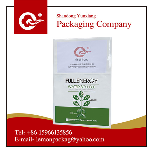 pe bags with gravure printing for fertilizer/rice/cement/soil