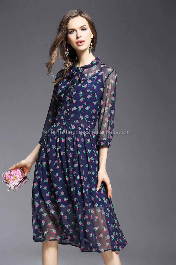 Latest One Piece Dress Designs Designer Guangzhou Girls Casual Stock Items