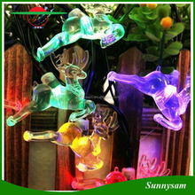 Waterproof 5M/6M/7M 20/30/50 LED Solar Powered Christmas Deer Shape Fairy String Lights for Wedding Xmas Party Outdoor Garden