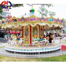 NQK-D03 Bee park mini carousel kiddie ride carousel horses amusement ride kids coin operated game machine for sale