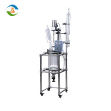 Best Price 10L to 50L Jacketed Glass Laboratory Pyrex Reactor