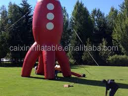 Inflatable outdoor 35ft Custom Inflatable Rocket Ship