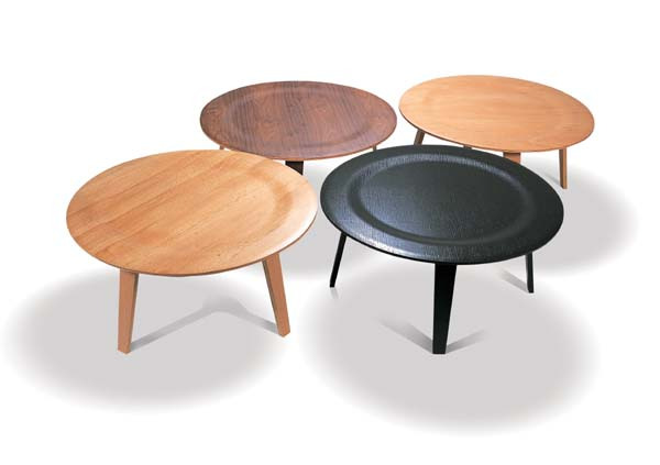 solid wood round table environmental wooden coffee table