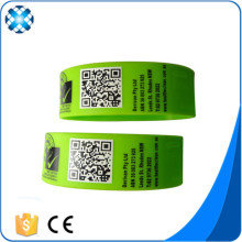 QR Code Printed Silicone Bracelet Customized