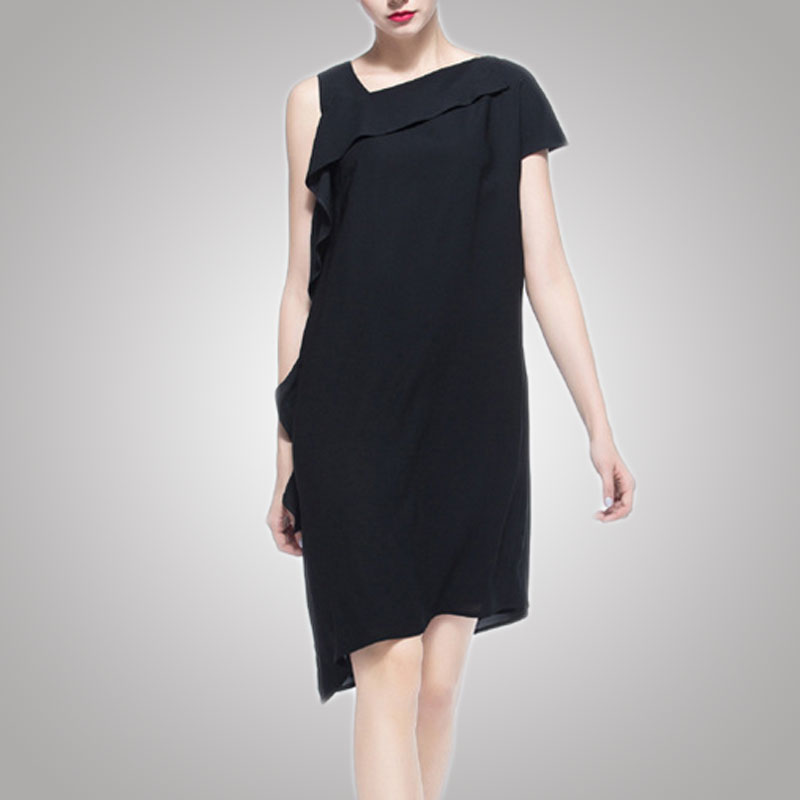 Beautiful casual black dresses for women ladies summer