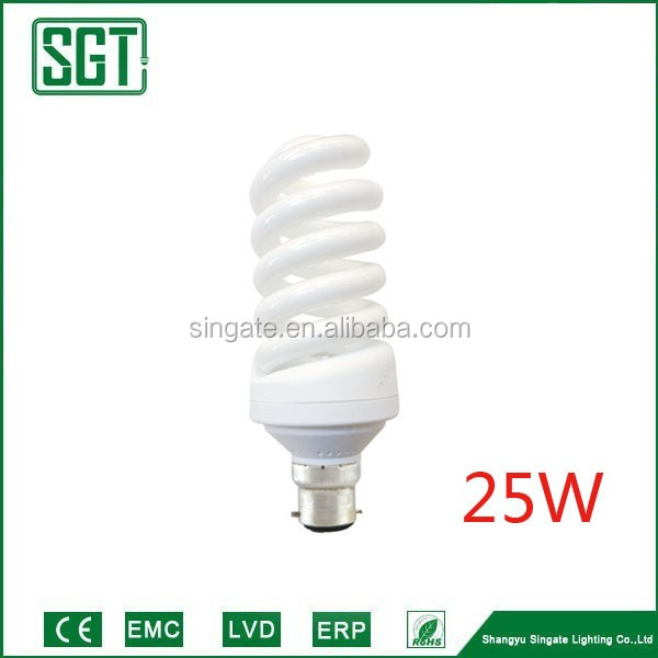 Africa market cheap colored spiral 25w energy saving cfl indoor light bulb for home house bathroom