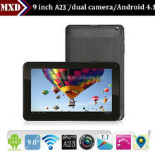 "9"" tablet pc smart allwinner A23 DUAL core mini pc android mid tablet pc manual"