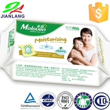 Wet Wipes Tissues for Baby and Kids Sensitive Nose/Hand/Face, 80 Count, Flip-Top Packs