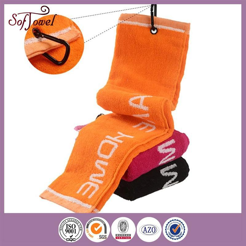 hot sale 100% cotton plain dyed sport golf towel