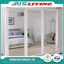 Good quality factory bedroom wardrobe sliding mirror doors
