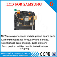 Mobile phone LCD Touch screen display/cell phone spare parts for Samsung Galaxy Note2 LCD Screen With Frame