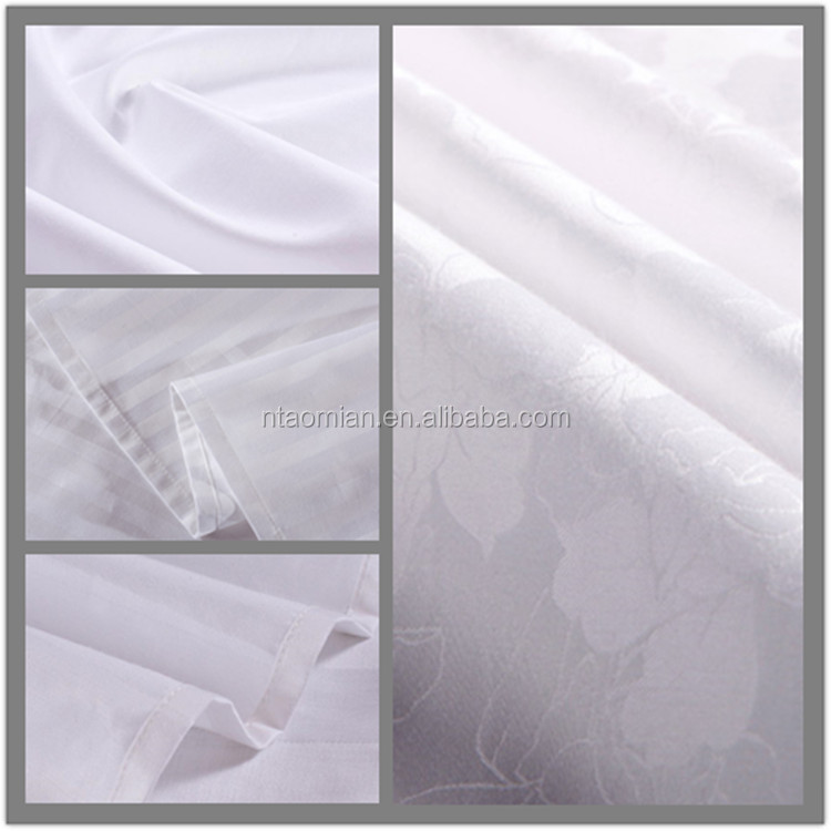 100% polyester satin / stripe fabric for hotel pillwcase / pillow cover