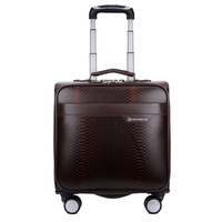 16 Inch Leather Business Suitcase Travel