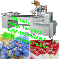 biscuit packing machine/candy pillow packing machine/flow type candy bag packing machine