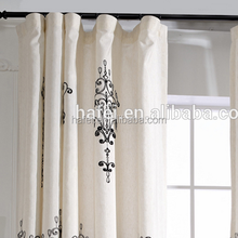 hotel blackout curtain embroidered chenille fabric