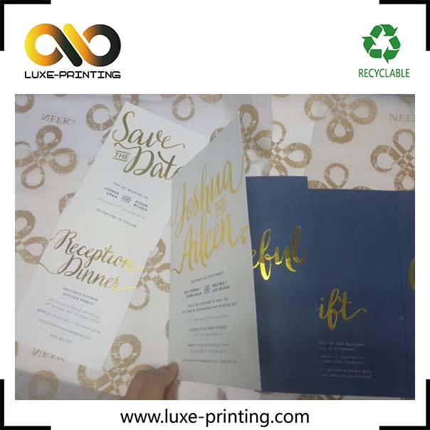 China luxury printed handmade laser cut latest wedding invitation card design