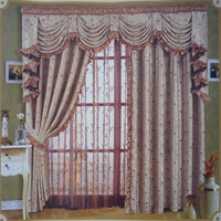 New Solid Sheer Curtains Window Curtains with Metal hook.