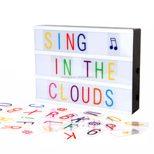 Cinematic Changeable Letter Amazon Create Light Box LED Wedding Cinema Sign With Colored Extra Letters Packs and Emojis