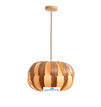 Double color pumpkin shape wood pendent lamp