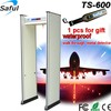 2016 Cheapest chinese TS-600 high sensitivity waterproof walk through ground metal detector door