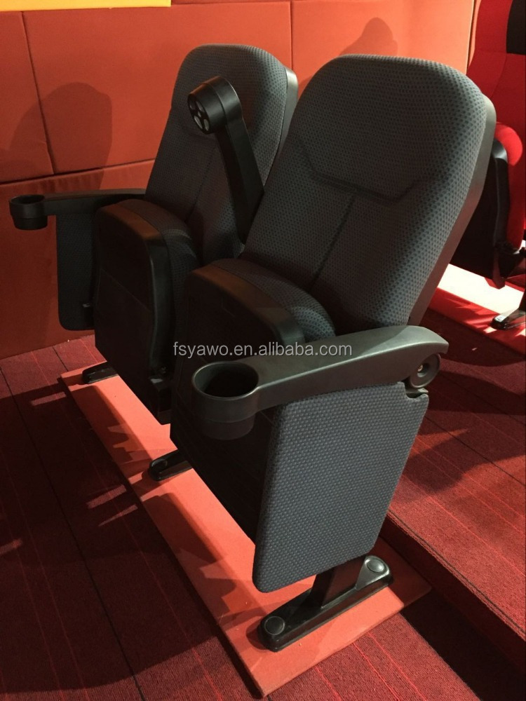 commercial plastic theater cinema chair cinema seat with cup holder(YA-210F)