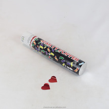 super quality wedding party popper with red metallic heart