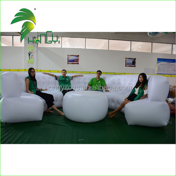 Hot Sale PVC Air Sofa With Led Light , Lighting Up Inflatable Furniture From Guangzhou Hongyi