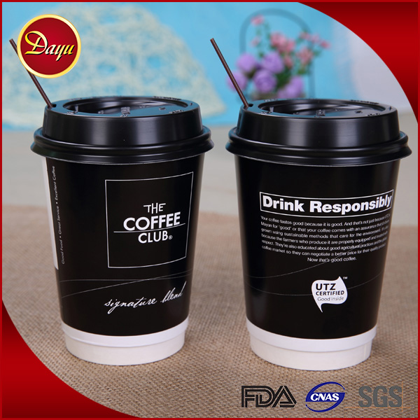 Cheap logo printed disposable food grade 9oz coffee paper cups