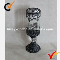 Luckywind antique metal church candle holder