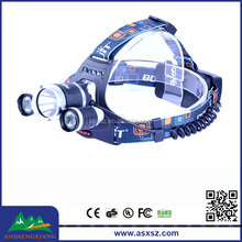 1xCREE XM-L2 T6 + 2xCREE XPG R5 LED 3000 Lumen Rechargeable waterproof headlamp led manufacturer