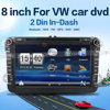 8inch In-dash 2 Din Car DVD CD Multimedia Player for Volkswagen Navigation in Car Entertainment