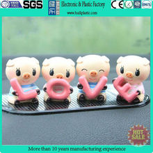 Custom pvc toy figurine/small pvc cartoon toy figure/plastic toy for car decoration