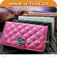 Charming/Luxury leather cover case for iphone 4G,4S