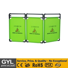 folding type fabric metal retractable road safety plastic barrier