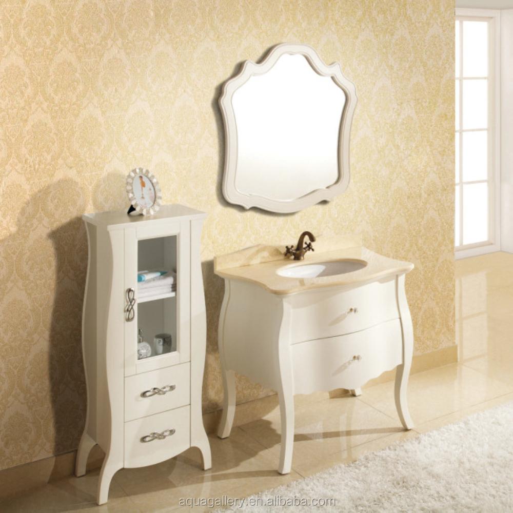 Clásico baño de madera maciza muebles de espejoTocadores de Baño
