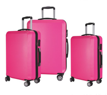 high quality aluminium alloy frame ABS+PC material luggage trolley case