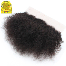 Best selling products online afro kinky curl human hair weave lace frontal piece