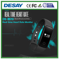 Desay Wholesale Vibration Heart Rate Bluetooh Smart Watch Bracelet DS-B510 iOS 7.1 + Android 4.3 +