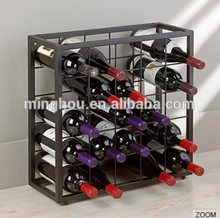 Popular premium floor standing metal wine bottle holder for 25 bottle storage