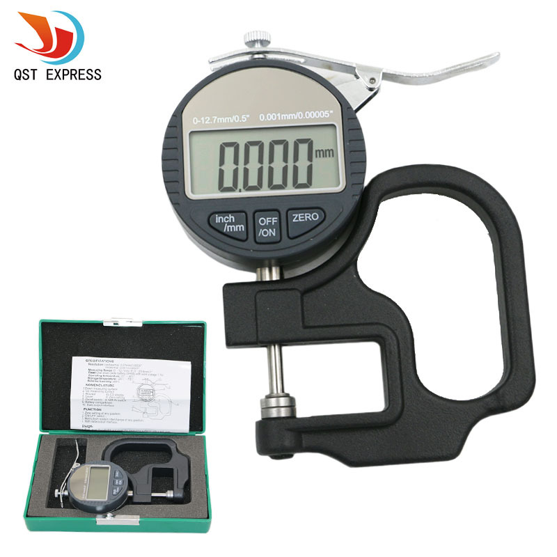 Digital measuring thickness meter gauge 0.001mm paper film cloth leather plate