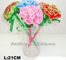office&school ballpoint pen of carnation design with ribbon