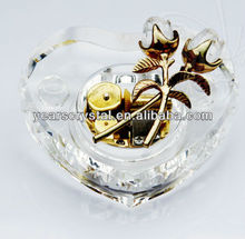 2013 New products crystal piano music box for christmas decoration(R-2069)