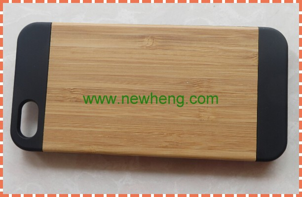 Factory Supply Popular for iphone5 wood grain holster filp leather case for iphone 5