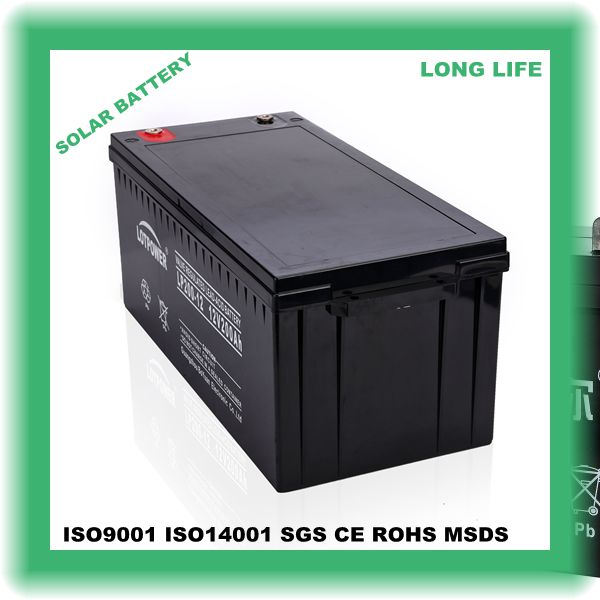 wireless alarm 12v 200ah battery with back-up high quality with solar store electricity used for DC cabinet