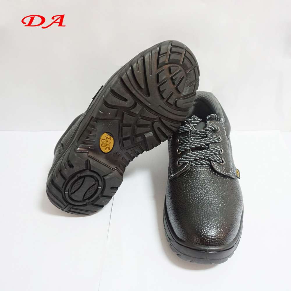 Mens black double safety safety footwear